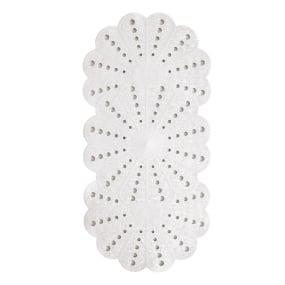 Showerdrape White Petal Bath Mat