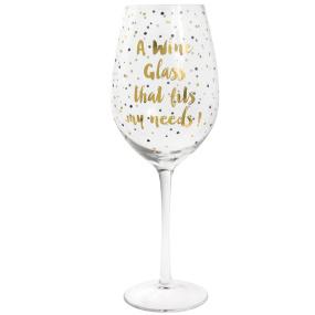 Golden Sparkle Wine Glass