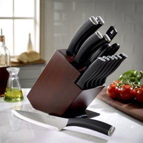 Arthur Price APK 13 Piece Walnut Coloured Knife Block Set