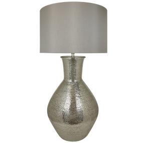 Nickel Olpe Floor Lamp and Shade