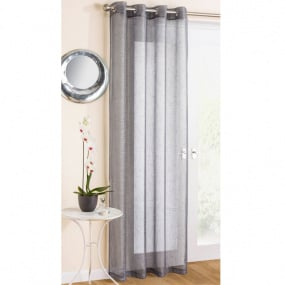 "Marrakesh Grey Panel Curtains 55"" x 54"""