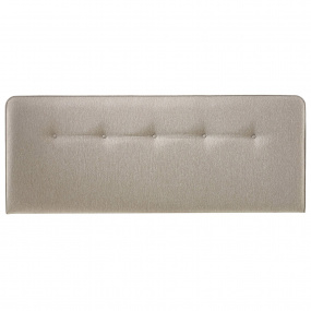 Myers Buttons Taupe Superking Headboard