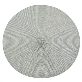 Circular Ribbed Dove Grey Placemat