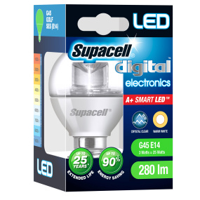Supacell SES E14 3W Golfball LED Opal Light Bulb