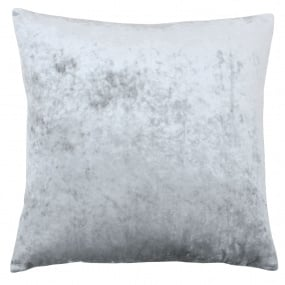 Riva Paoletti Silver Crushed Velvet Square Cushion Cover