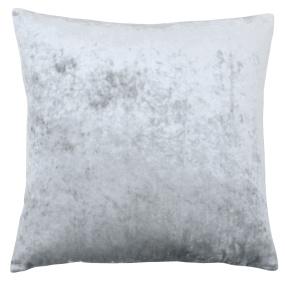 Riva Paoletti Silver Crushed Velvet Square Cushion Cover