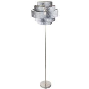 Globo Tarok Silver Velvet Floor Lamp