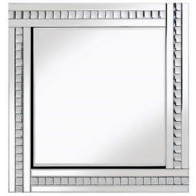 Classic Bevelled Crystal Silver Mirror