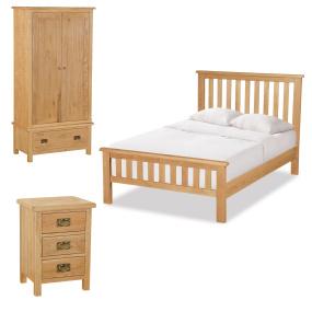 Dorset Double Light Oak Bedroom Package