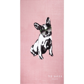 Ted Baker Cotton Dog Pink Beach Towel
