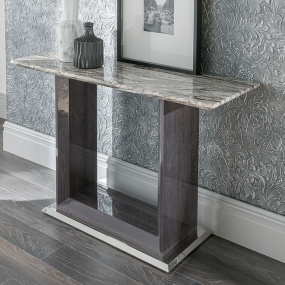 Pescara Grey Marble Console Table