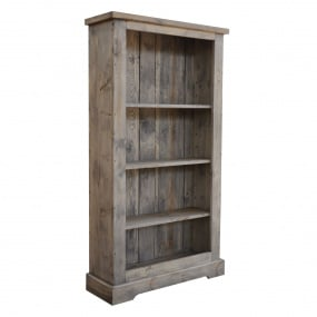 Narva Reclaimed Timber Grey Bookcase