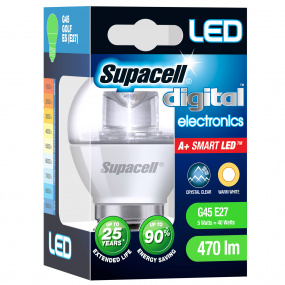 Supacell ES E27 5W Golfball LED Clear Light Bulb
