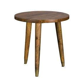 Drift Mango Wood Round Lamp Table