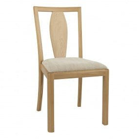 Oslo Light Oak Dining Chair with Fabric Seat