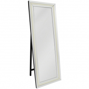 Dash White Mirrored Floor Mirror
