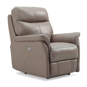 Hayward Electric Truffle Leather Recliner Chair