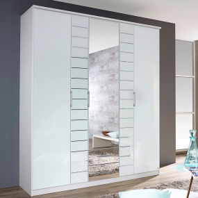 Alpina Alpine White 181cm Hinged Door Wardrobe