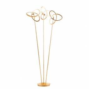 Wofi Eliot 3 Light Gold Twisted Knot Floor Lamp