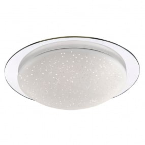 Skyler Large Chrome Flush Ceiling Light