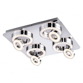 Tim LED Four Flush Ceiling Light