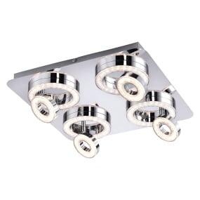 Tim LED Four Flush Ceiling Light