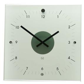 Dingens Glass Square Clock