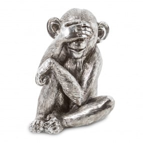 Silver Monkey See Ornament