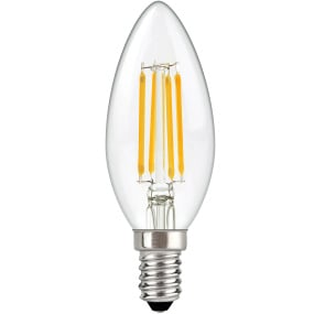Supacell SES E14 4W Candle LED Filament Clear Light Bulb