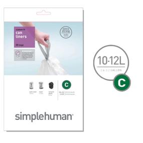 Simplehuman 10 Litre Sure Fit C Bin Liners
