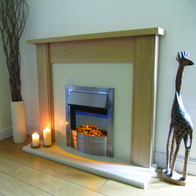 Evonic Fires Phantom Satin Chrome Inset Electric Fire