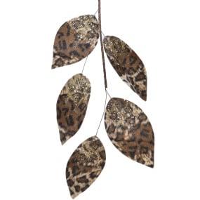 Leopard Print 120cm Leaf Garland | Housing Units