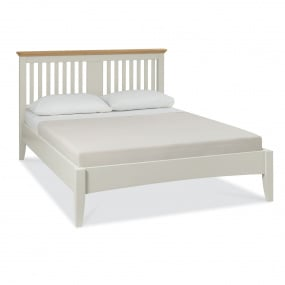Henley Soft Grey and Oak Double Bed Frame