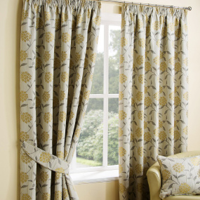 Belfield Paloma Ochre 90x90 Curtains