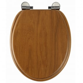 Roper Rhodes Traditional Soft Closing Honey Oak Toilet Seat