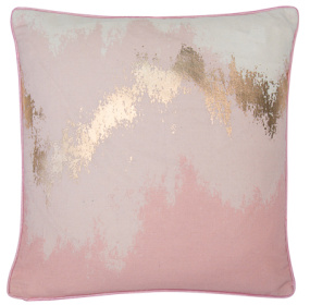 Malini Glimmer Metallic Pink Cushion