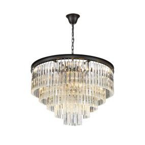 Renate Black Large Round 10 Light Pendant Light
