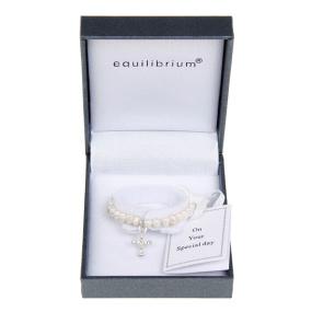 Equilibrium Pearl Christening Bracelet