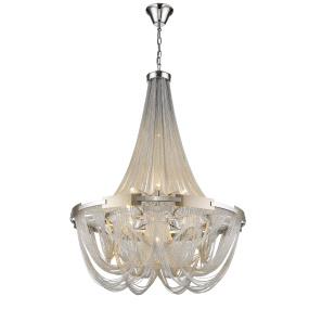 Novara Silver Chain 6 Light Pendant Light