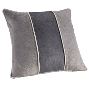 Dreamweavers Grey & Light Grey Tri Colour Cushion