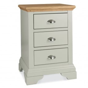Henley Soft Grey and Oak 3 Drawer Nightstand