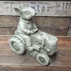 Rabbit Tractor Ornament