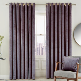 Peacock Blue Escala Damson 66x54 Curtains