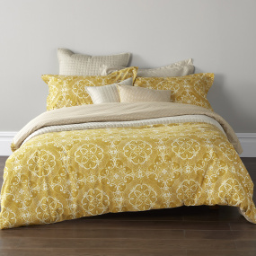 Christy Sumatra Ochre Double Duvet Set