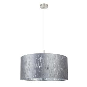 Globo Tarok Silver Velvet Drum Pendant Light