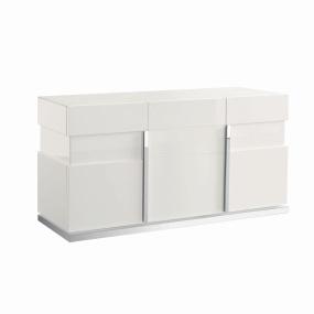 Torino White High Gloss 3 Door Sideboard