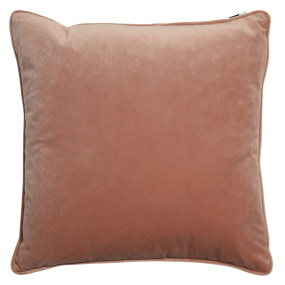 Malini Luxe Putty Velvet Piping Cushion