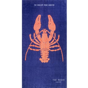 Ted Baker Cotton Lobster Blue Beach Towel