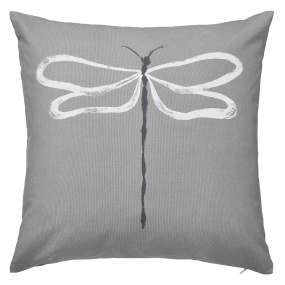 A beautifully luxurious grey cushion part of the Usuko rose bedding collection from Scion