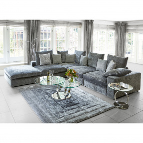 Verge Ridge Black & Grey 80cm x 150cm Rug | Housing Units